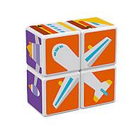 Конструктор Магнітні кубики Транспорт + 7 карток, фото 2