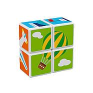 Конструктор Магнітні кубики Транспорт + 7 карток, фото 3