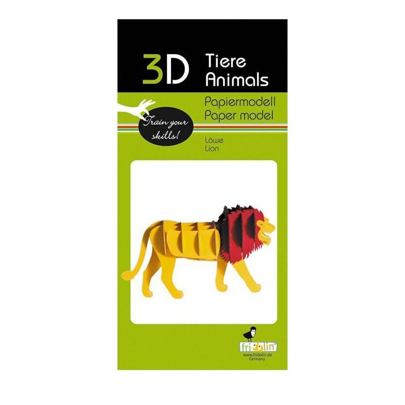 """3D модель із папіру """"Лев"""""""