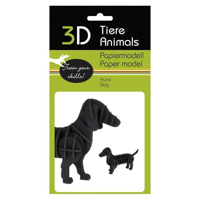 "3D модель із папіру ""Собака"""