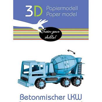 """3D модель із папіру """"Бетономішалка"""""""