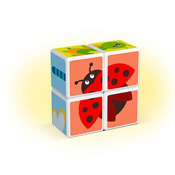 Конструктор Магнітні кубики Комахи + 7 карток
