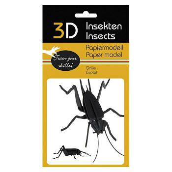 """3D модель із папіру """"Цвіркун"""""""