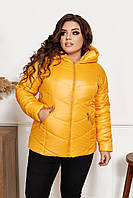 Куртка женская So StyleM большого размера Желтый