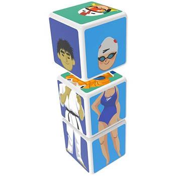 Конструктор Магнітні кубики Спорт 3 кубика