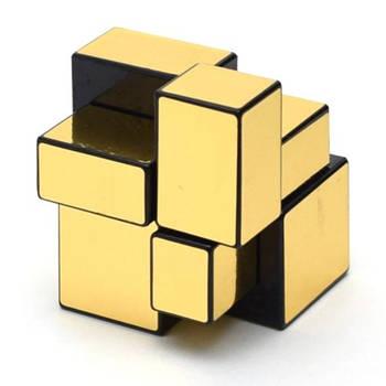 Головоломка Розумний кубик 2х2х2 дзеркальний золотий