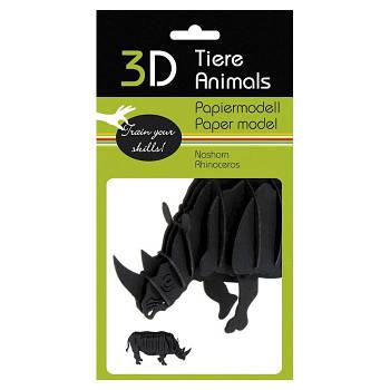 "3D модель із папіру ""Носоріг"""