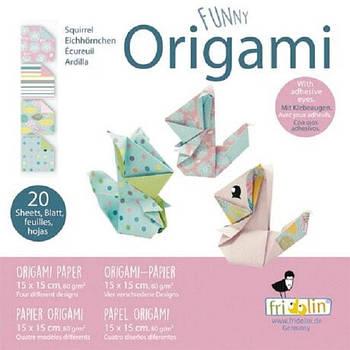"""Веселі орігамі """"Білки"""" 20 аркушів 15х15 см"""