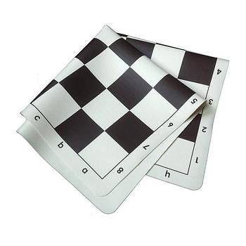 Силіконова дошка для гри в шахи Kunststoffbrett, Silikon, KH 98mm, s/w