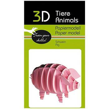 """3D модель із папіру """"Свинка"""""""