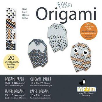 """Веселі орігамі """"Сови"""" 20 аркушів 15х15 см"""