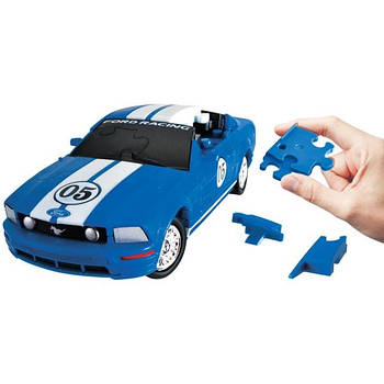 3D пазл машина Ford Mustang блакитна 1:32