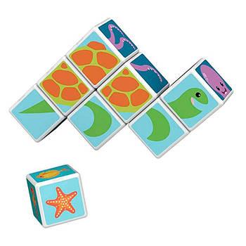 Конструктор Магнітні кубики Морські Тварини + 11 карток