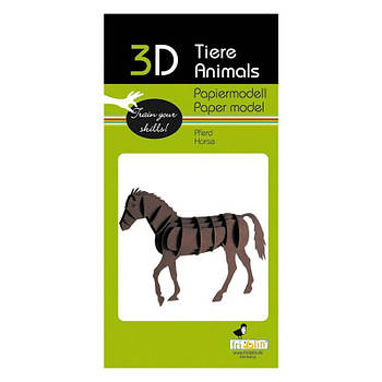 """3D модель із папіру """"Кінь"""""""