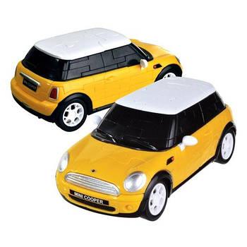 3D пазл машина Mini Cooper жовта 1:32