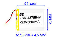 Аккумулятор Планшета 3800mAh 3.7 ГАРАНТИЯ ЕМКОСТИ, фото 1