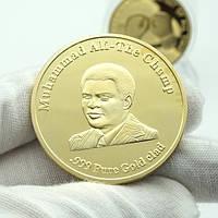 Позолоченная сувенирная монета ''Мухаммед Али''