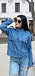 Куртка жіноча молодіжна зі штучної шкіри, фото 4