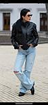 Куртка жіноча молодіжна зі штучної шкіри, фото 6