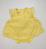 Детский боди-платье для девочки размер 68,74,80,86 на 3-12 месяцев Маломерные Турция