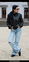 Модна куртка жіноча демісезонна з еко-шкіри