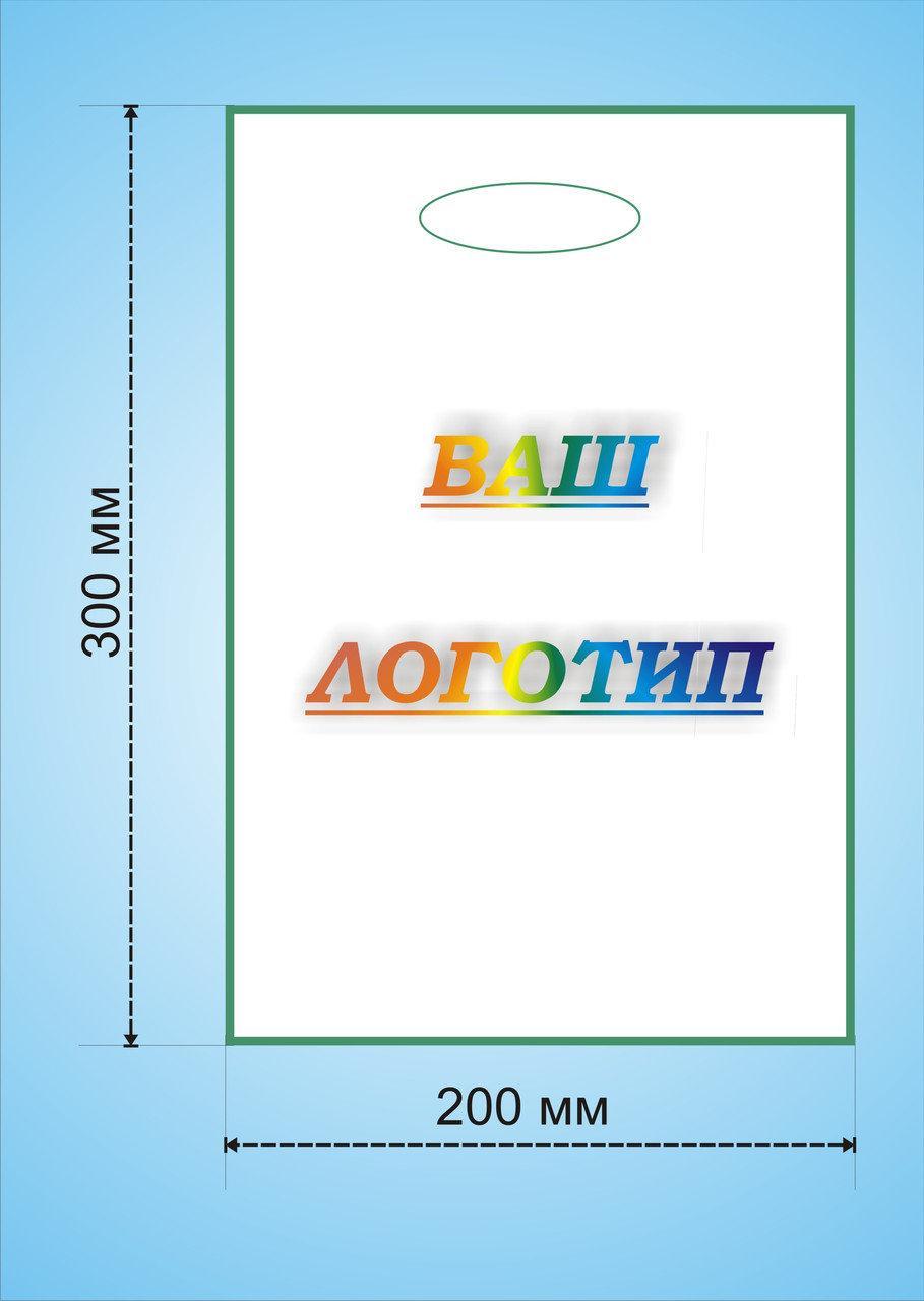 Поліетиленові пакети з Вашим логотипом, Банан 20х30, Тираж 500 шт.