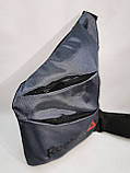 Барсетка слінг на груди REEBOK Оксфорд тканина 1000D Унісекс/Сумка спортивні для через плече(ОПТ), фото 3