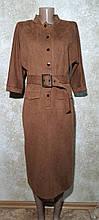 Стильное платье рыжего цвета, весеннее. Размер 48
