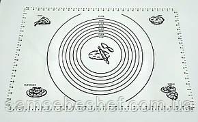 Силіконовий килимок професійний для тіста 60х40 см