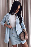 Костюм женский юбочный с удлиненным пиджаком, фото 3