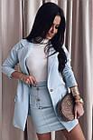 Костюм жіночий спідничні з подовженим піджаком, фото 3