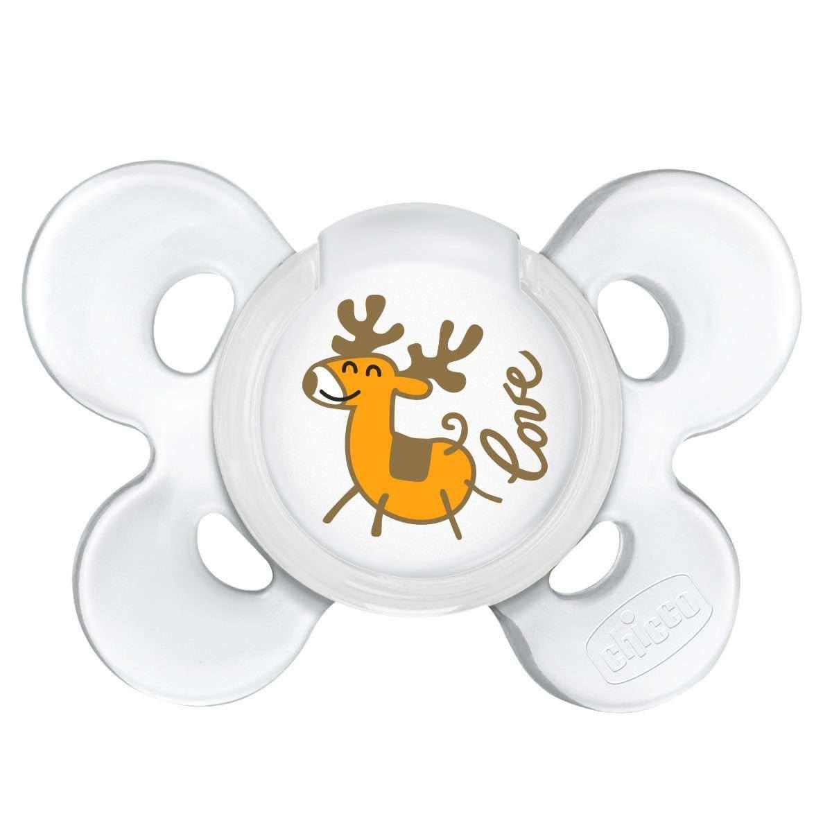 Пустушка Chicco Physio Сomfort Christmas, силікон, 0-6 міс., 1 шт.