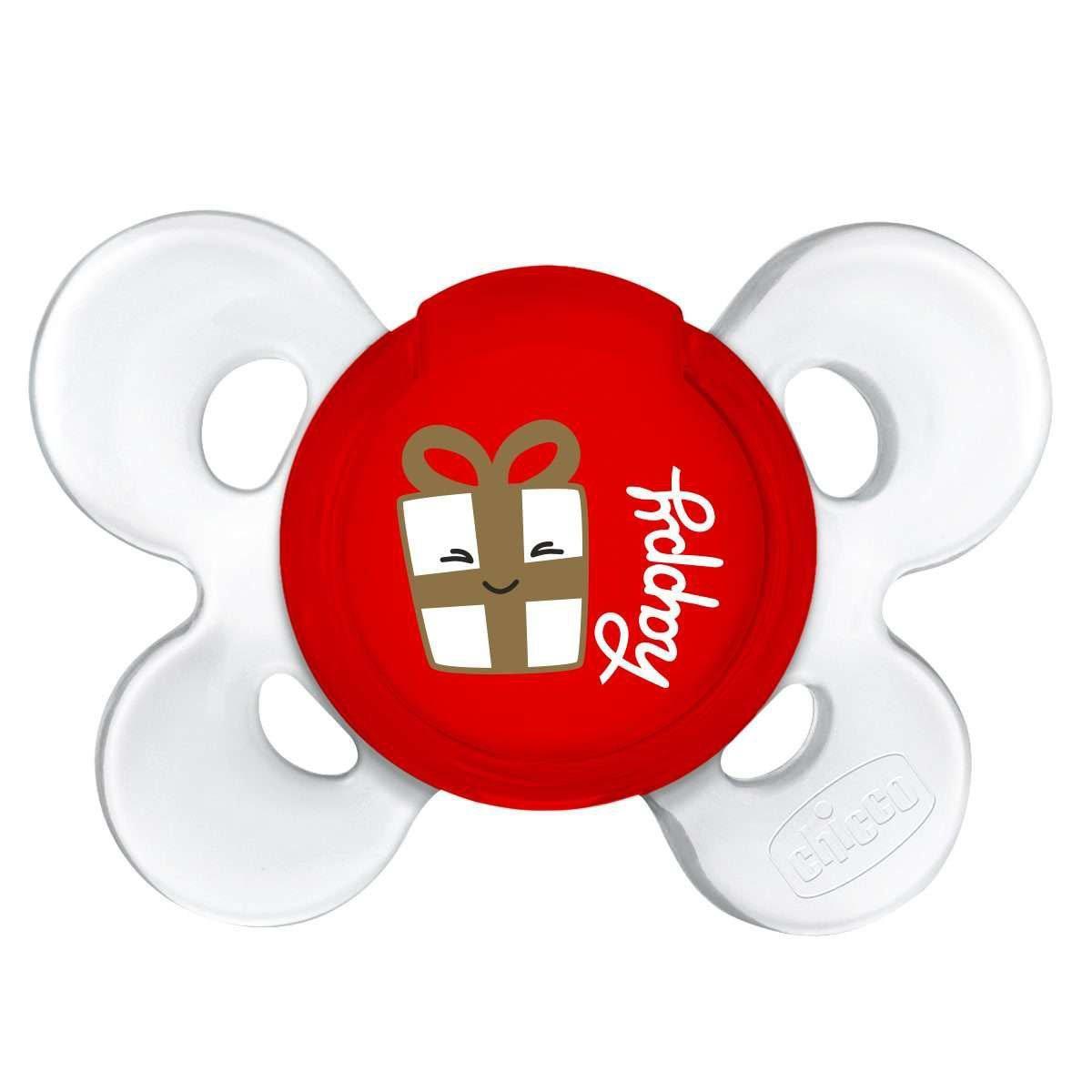 Пустушка Chicco Physio Сomfort Christmas, силікон, 12м+, 1 шт.