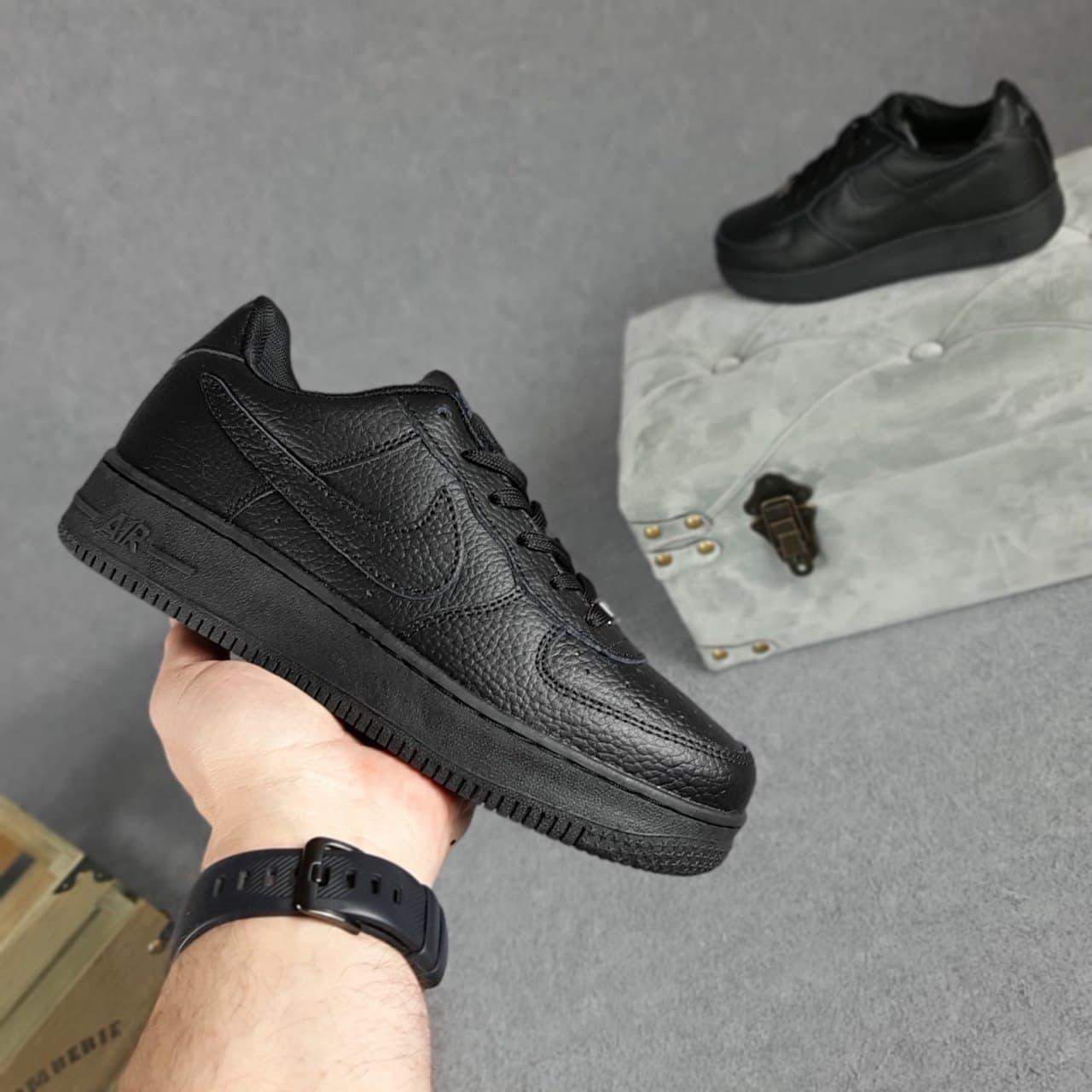 Кросівки Air Force Чорні з тисненням SIN 37-41
