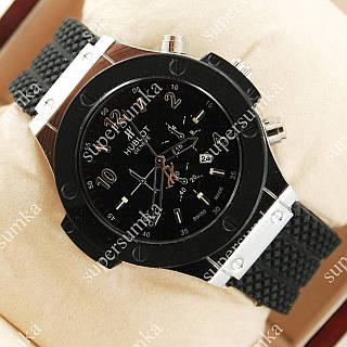 Элегантные наручные часы Hublot Big Bang Black/Silver Glass 1203