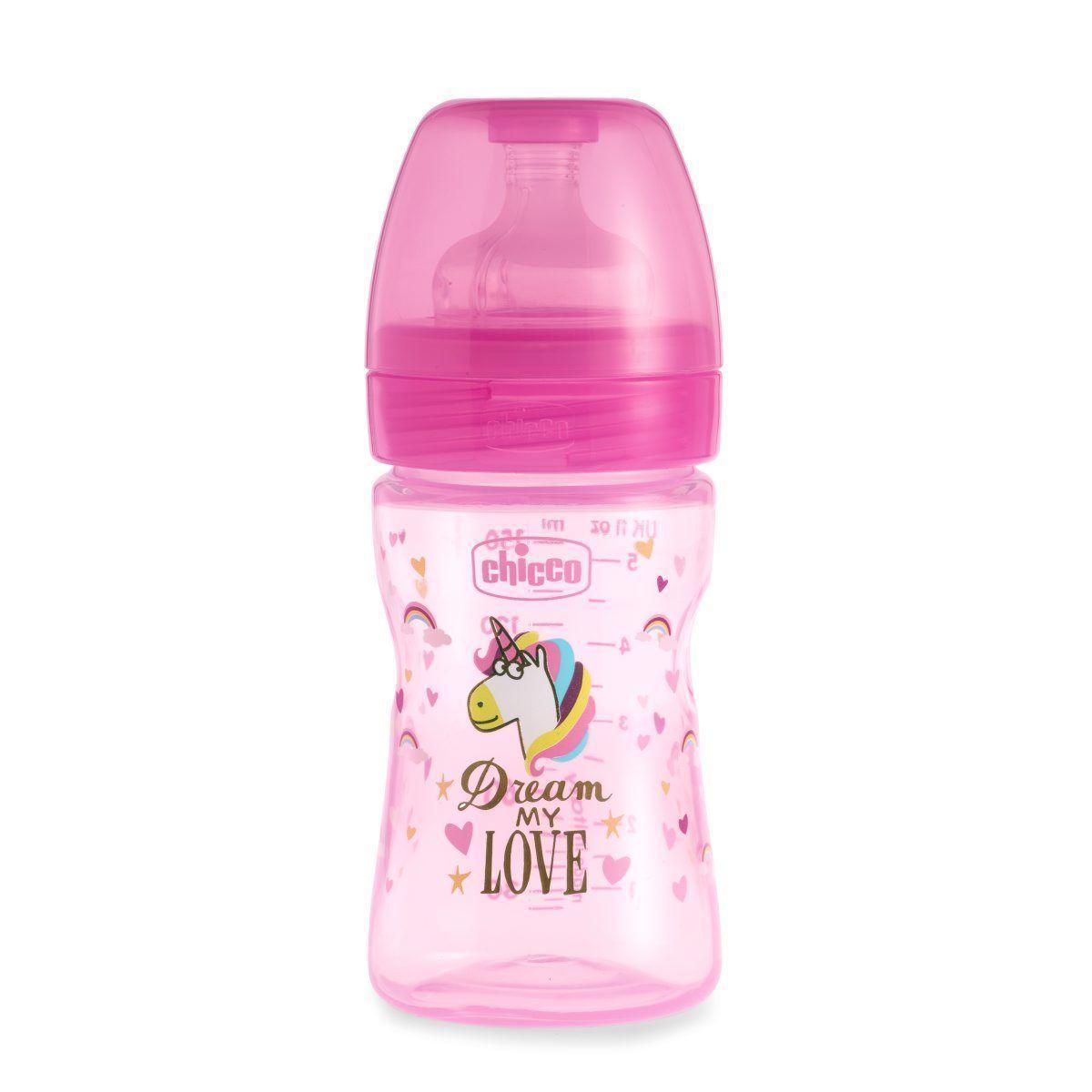 Пляшечка пластик Chicco Well-Being Love, 150мл, соска силікон, 0m+