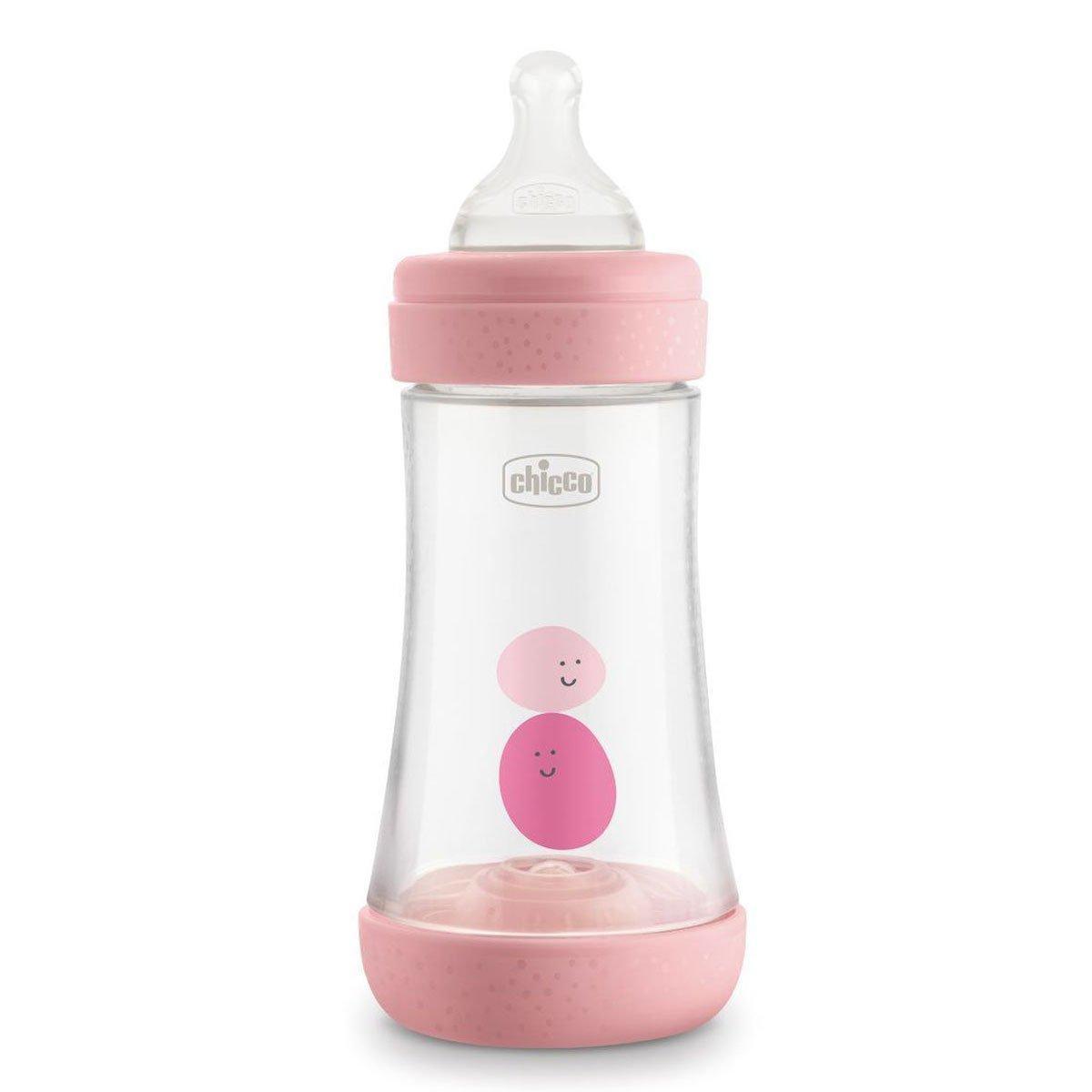 Бутылочка пластик Chicco PERFECT 5, 240мл, 2м+