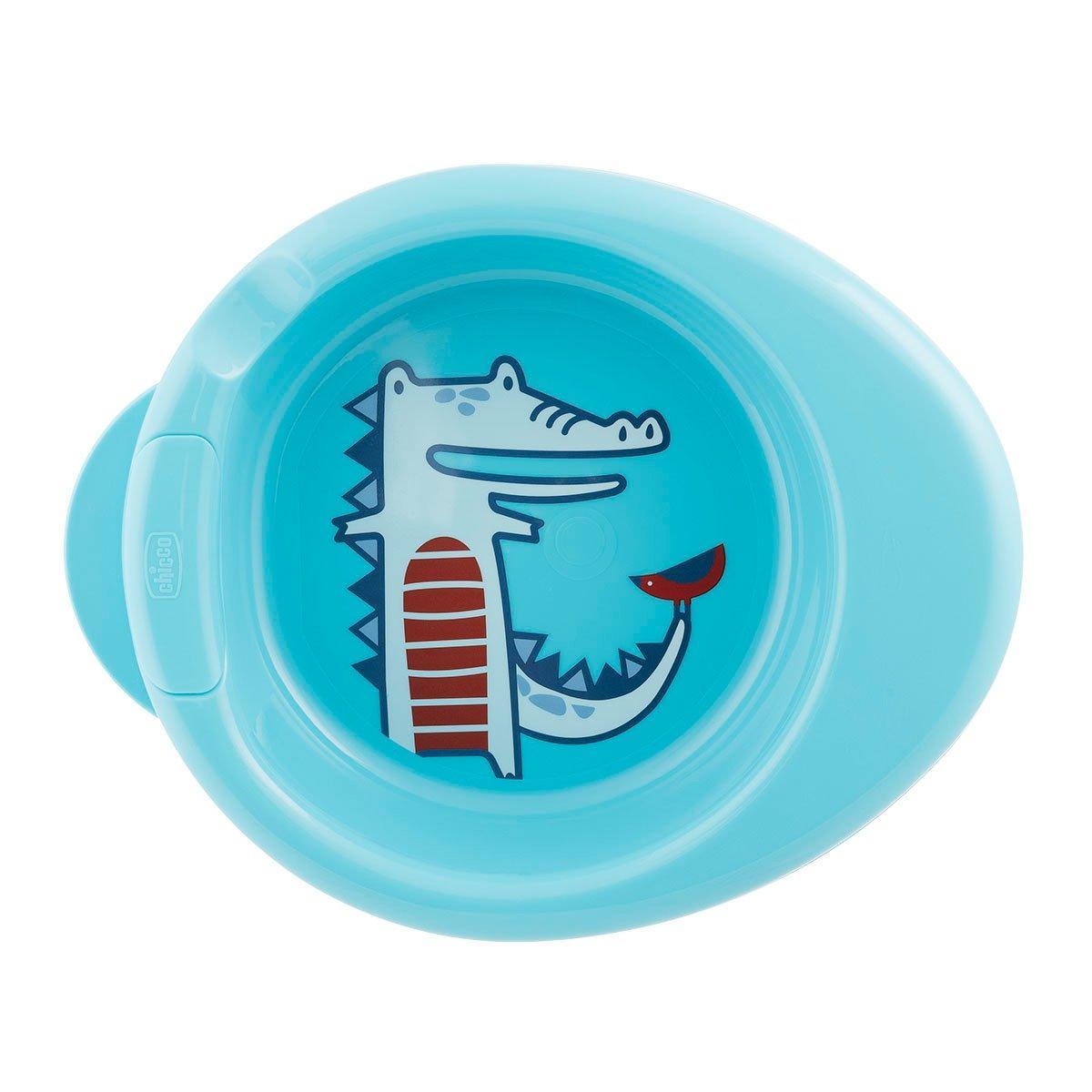 Термоустойчивая тарелка Chicco Warmy Plate, 6м+
