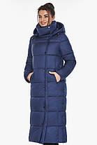 Куртка жіноча зимова колір синій оксамит модель 41830 42 (XXS), фото 3