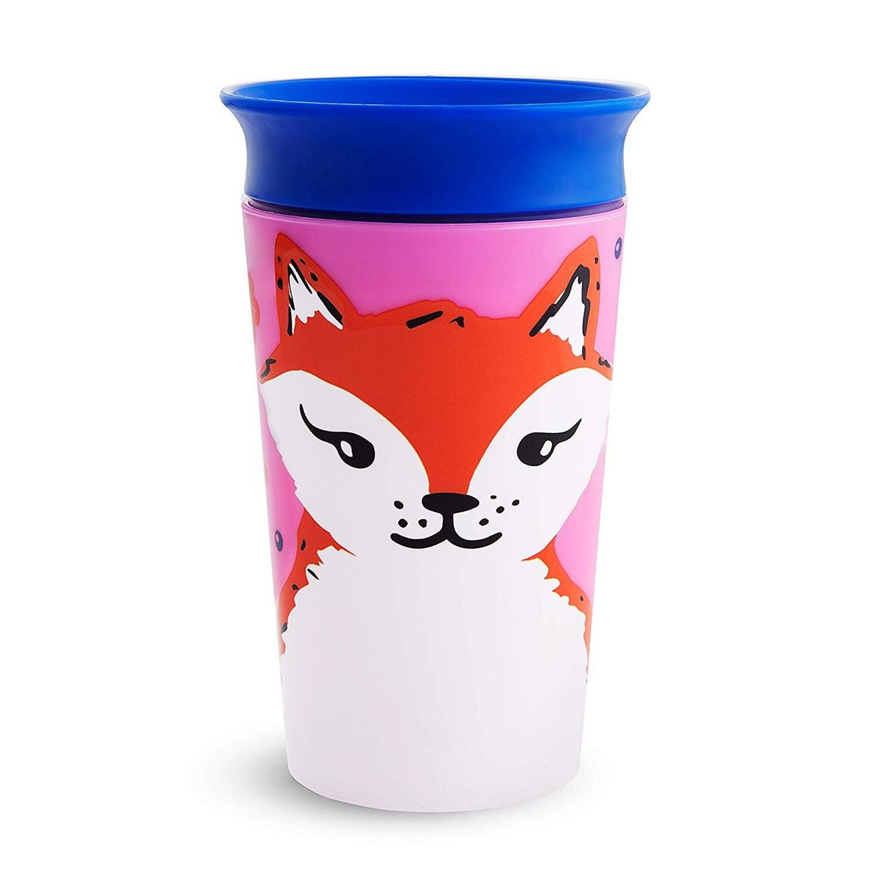 Чашка непроливная Munchkin Miracle 360 WildLove, 266 мл
