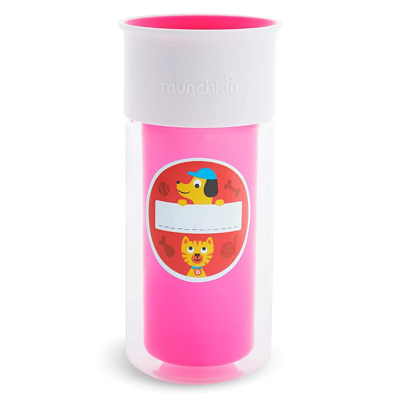 Бутылка непроливная Munchkin Miracle 360 Insulated Sticker, 266 мл