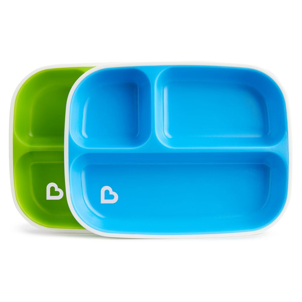 Набір тарілок Munchkin Splash Divided Plates, 2 шт.