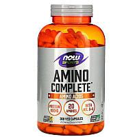 Аминокислоты комплекс / Amino Complete Sports, аминокислотный комплекс, 360 капсул, Now Foods