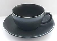 Чашка з блюдцем Seasons Black Porland 200 мл, фото 1