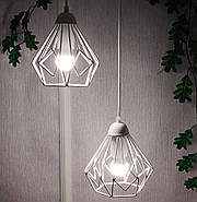 Подвесная люстра на 3-лампы SKRAB-3G E27 на круглой основе, белый, фото 2