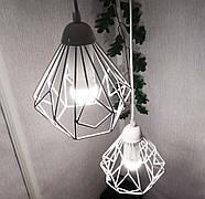Подвесная люстра на 3-лампы SKRAB-3G E27 на круглой основе, белый, фото 3