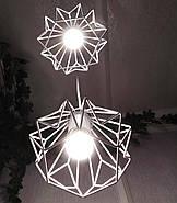 Подвесная люстра на 3-лампы SKRAB-3G E27 на круглой основе, белый, фото 4