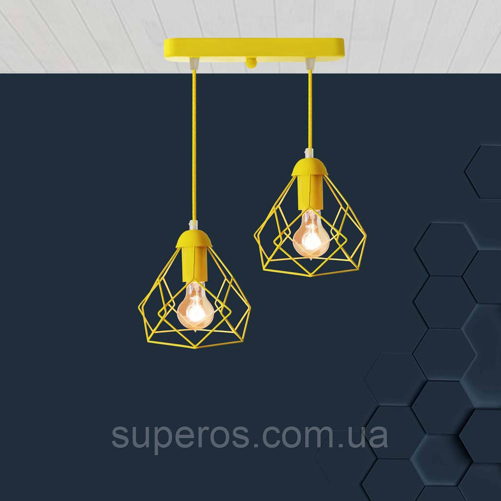 Подвесная люстра на 2-лампы RUBY-2 E27 желтый