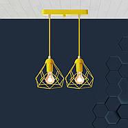 Подвесная люстра на 2-лампы RUBY-2 E27 желтый, фото 2