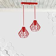 Підвісна люстра на 2-лампи SKRAB-2 E27 червоний, фото 2